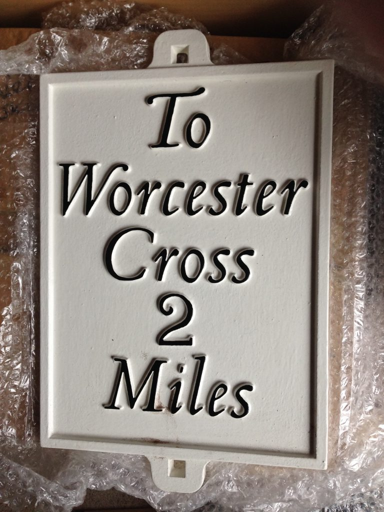 M Powder Coated - Worcester Cross